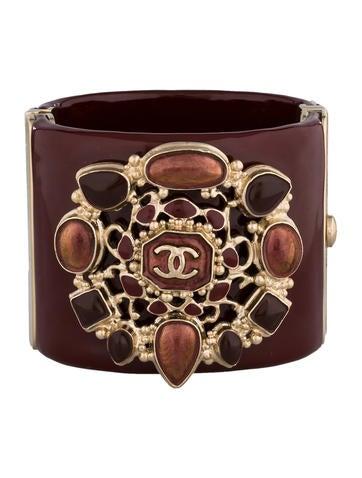 Chanel Hinged Gripoix Cuff