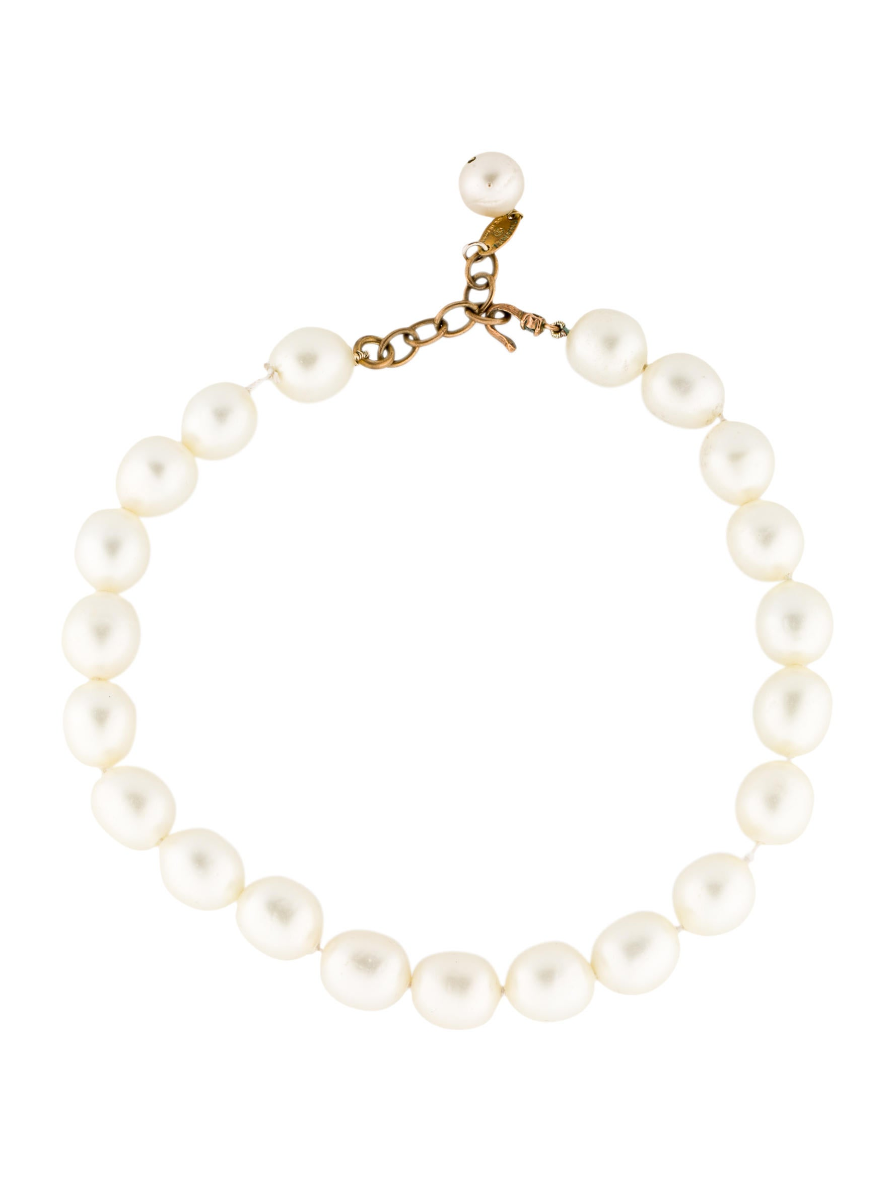 chanel faux pearl necklace necklaces cha66264 the