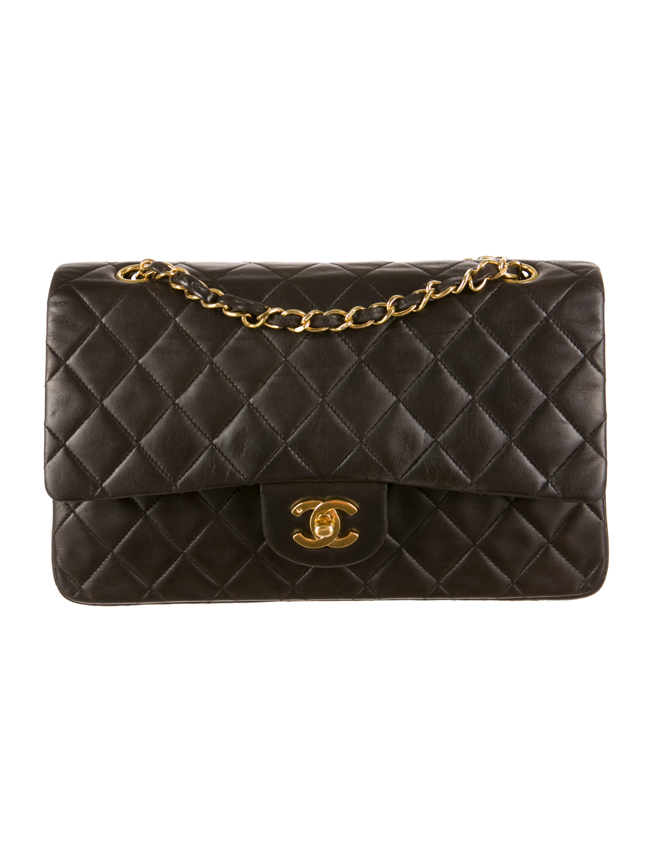 Chanel Vintage Small Lambskin Double Flap Bag Handbags