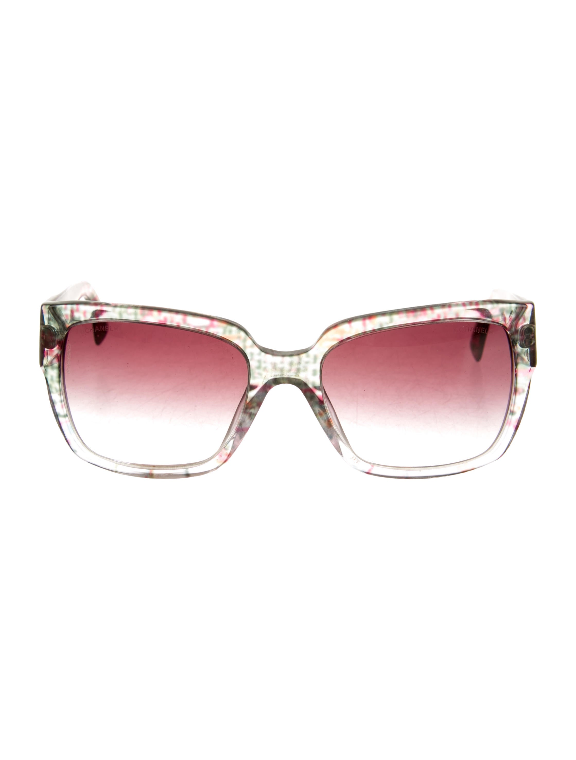 Chanel Tweed Eyeglass Frames : Chanel Tweed Frame Sunglasses - Accessories - CHA80126 ...