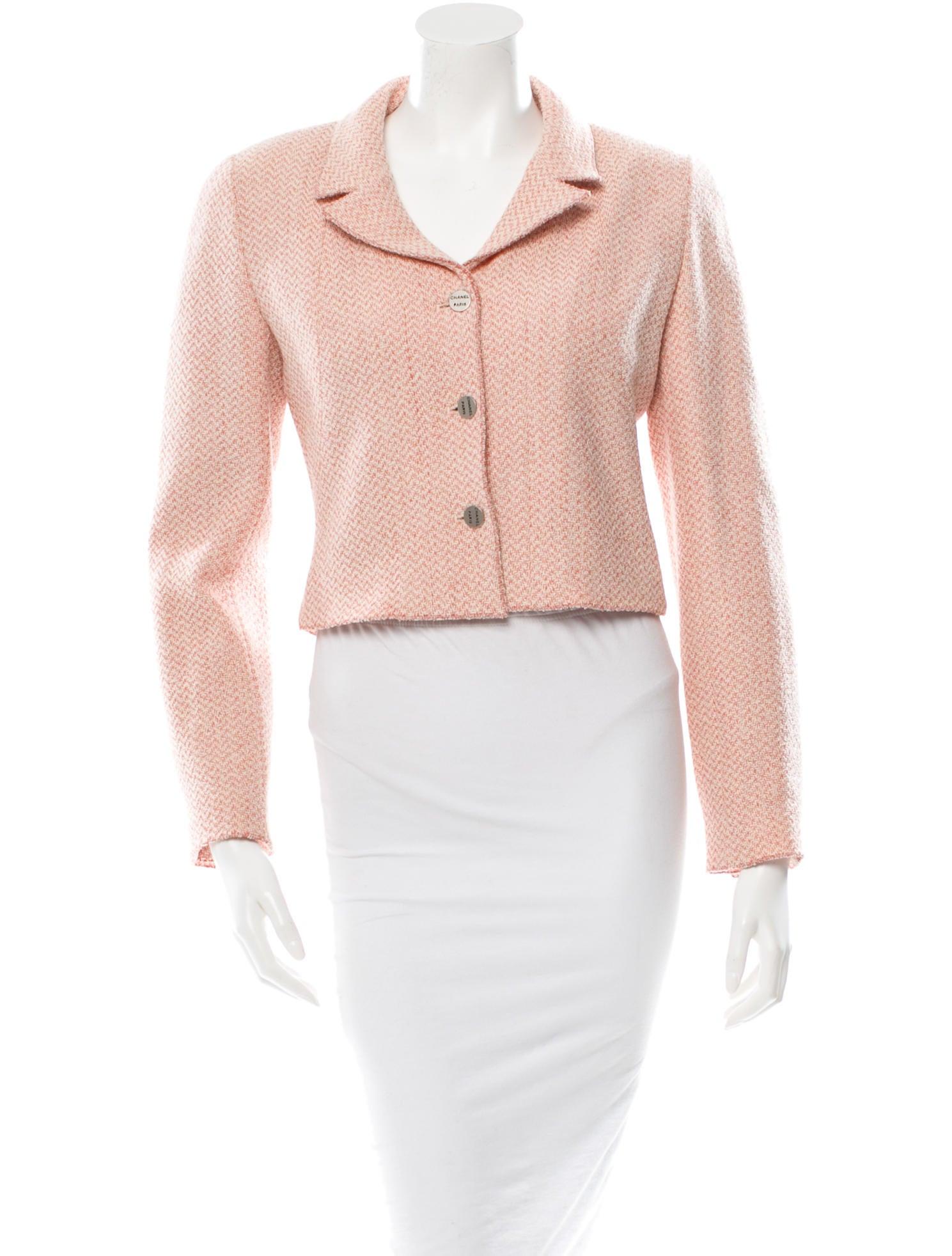 Denim Jacket Knitting Pattern : Chanel Pattern Knit Jacket - Clothing - CHA80312 The RealReal