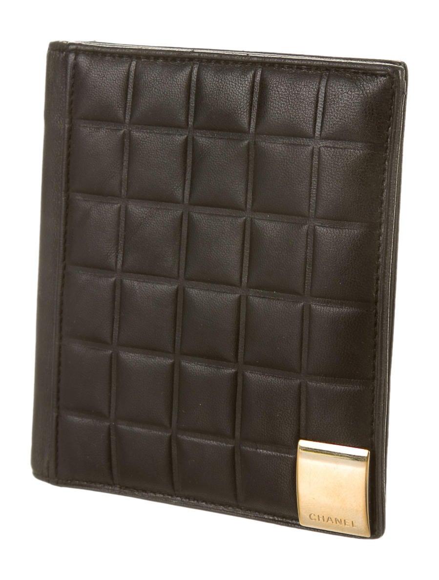 chanel lambskin chocolate bar wallet accessories