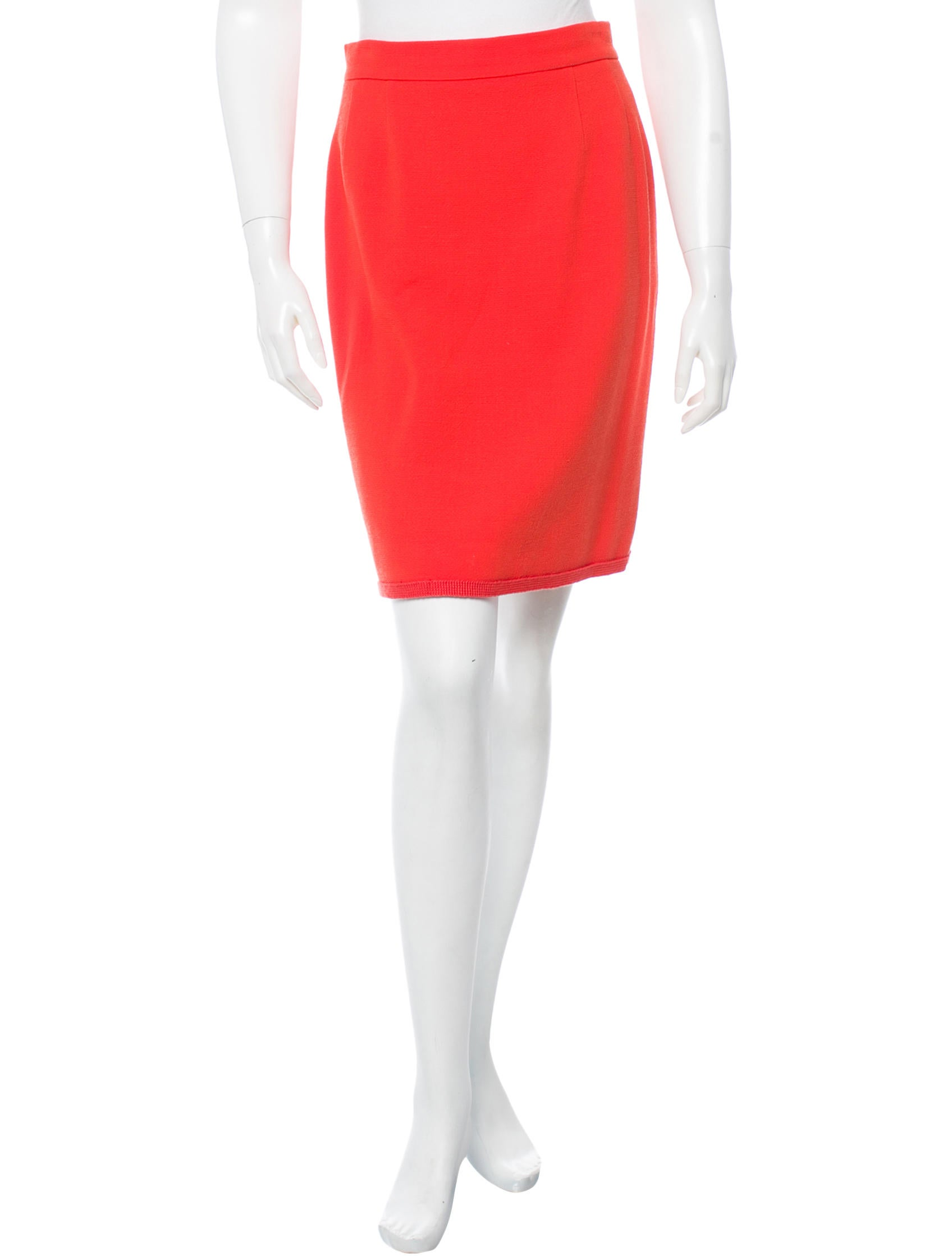chanel wool a line skirt clothing cha81327 the realreal