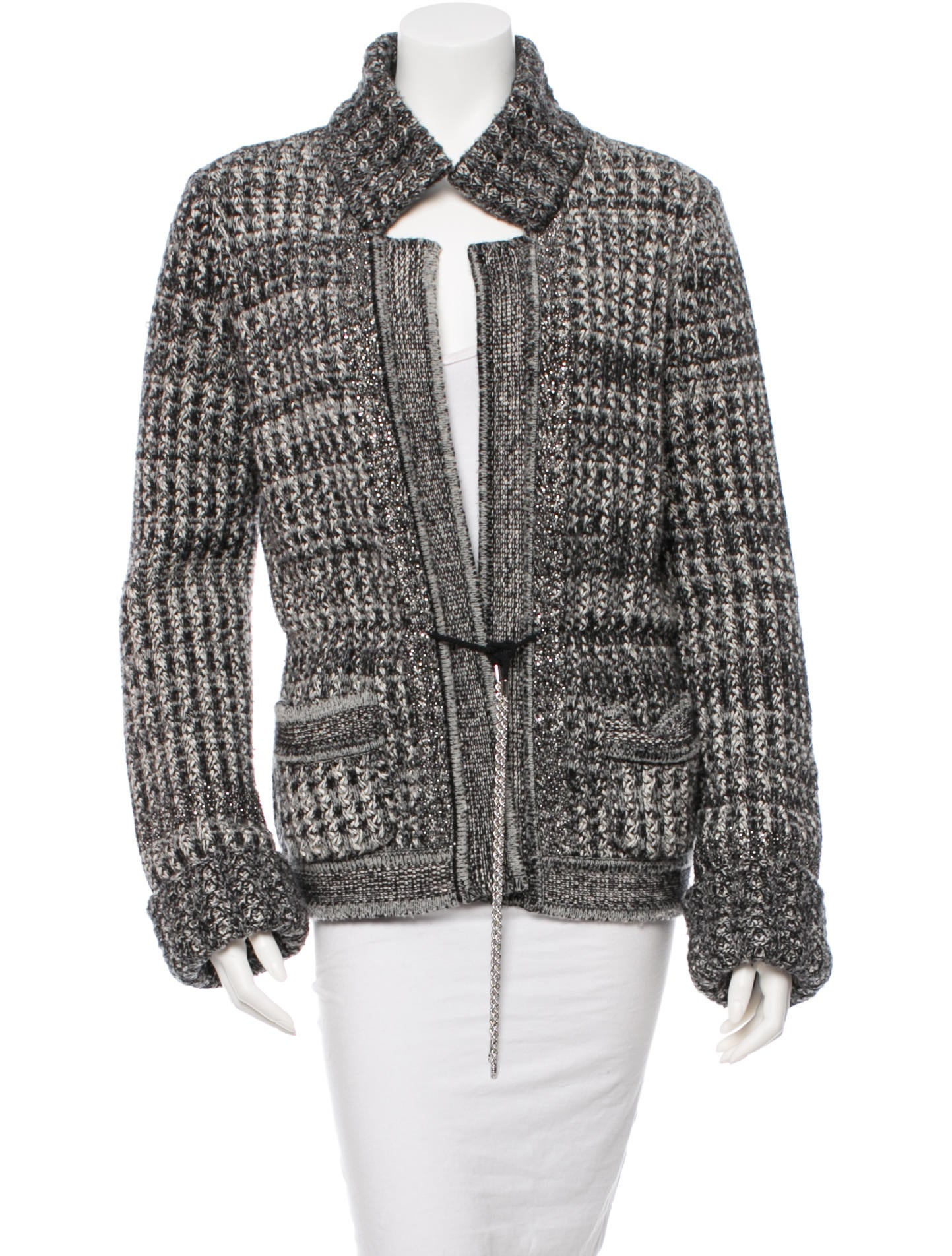 Chanel Embellished Knit Jacket - Clothing - CHA92806 The RealReal