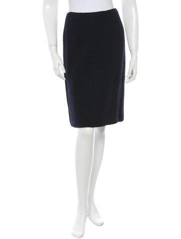 Chanel Knit A-Line Skirt None