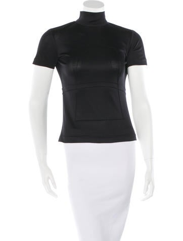 Ralph Rucci Silk Short Sleeve Top None