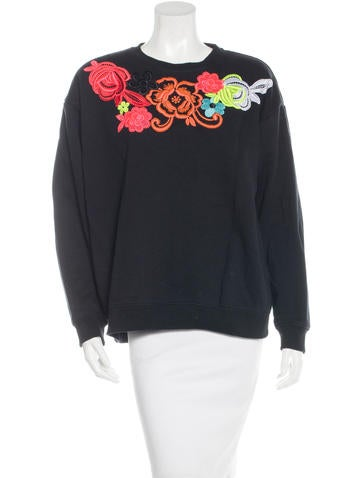 Christopher Kane Embroidered Crew Neck Sweater None