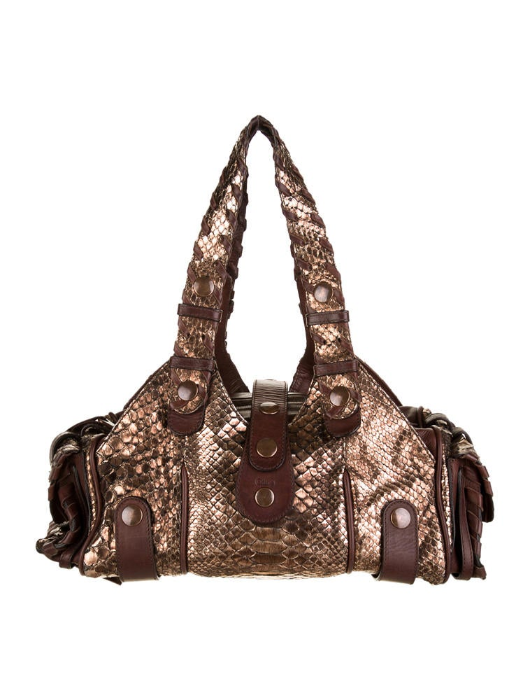 cloe handbags - chloe python silverado bag, chole purses