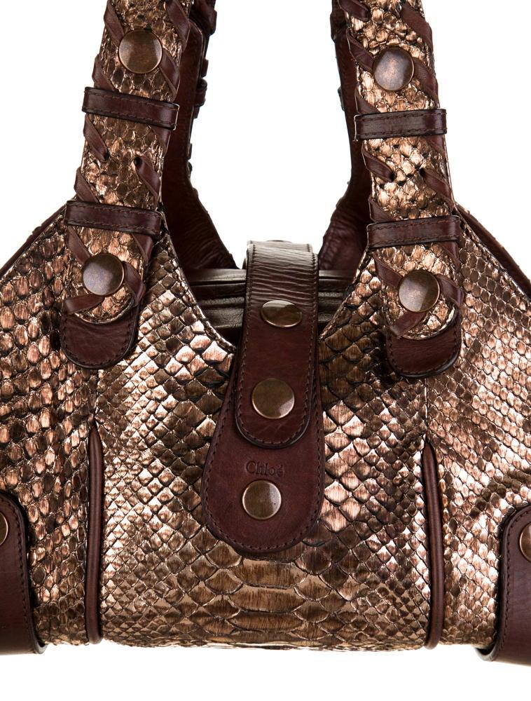 the best purse - Chlo�� Python Silverado Bag - Handbags - CHL21872 | The RealReal
