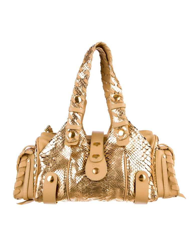Chlo¨¦ Metallic Python Silverado Bag - Handbags - CHL22223 | The ...