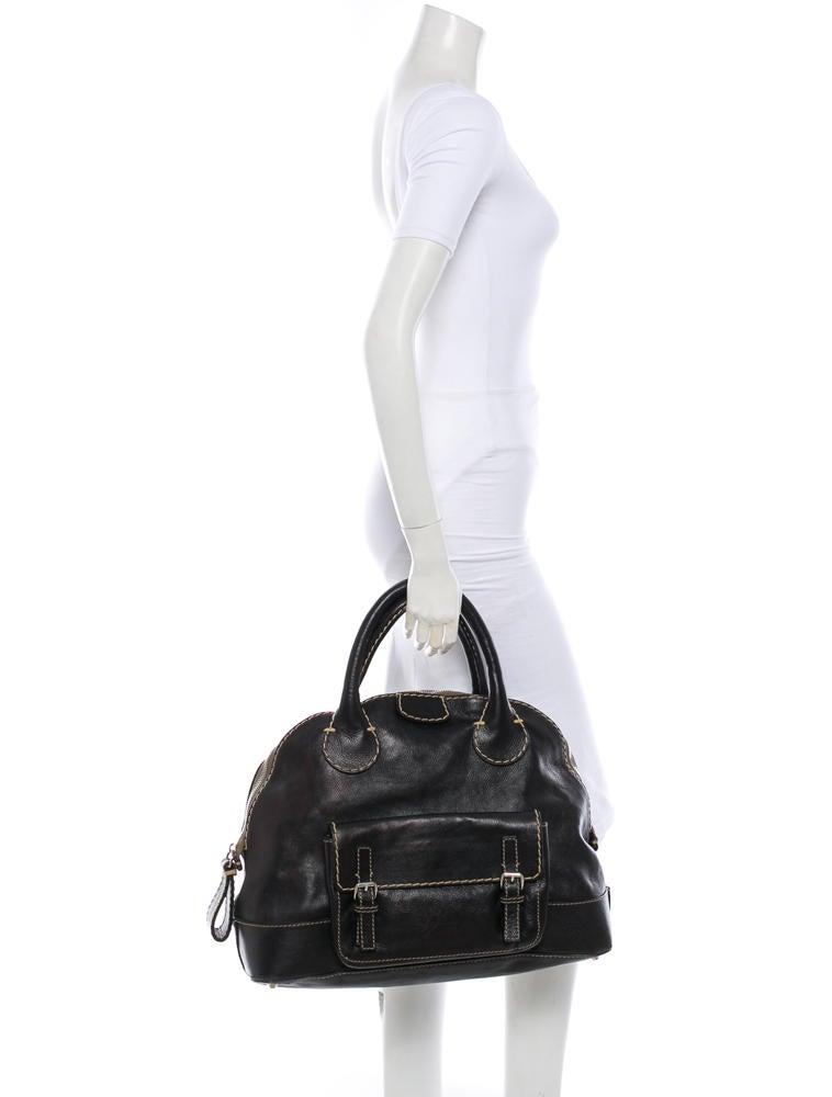 replica chloe classic 5662 ladies handbag black