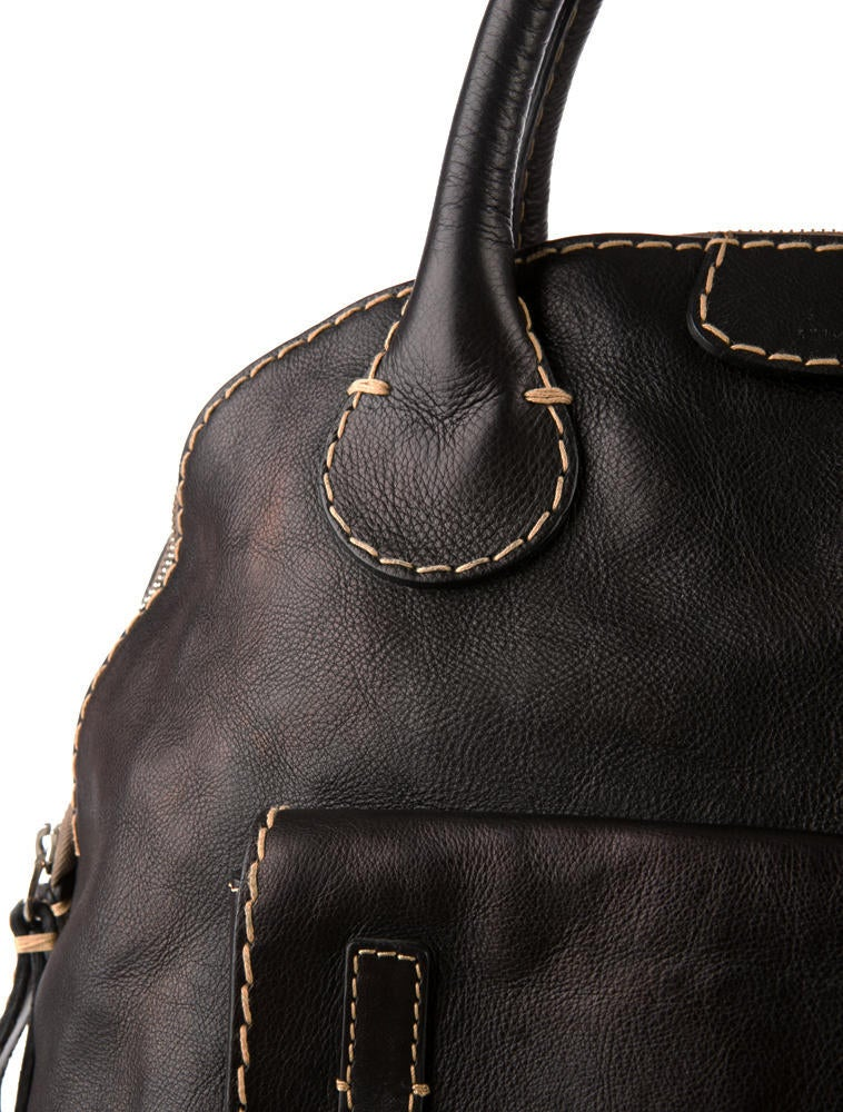 replica chloe astoria black leather bowling shoulder bag