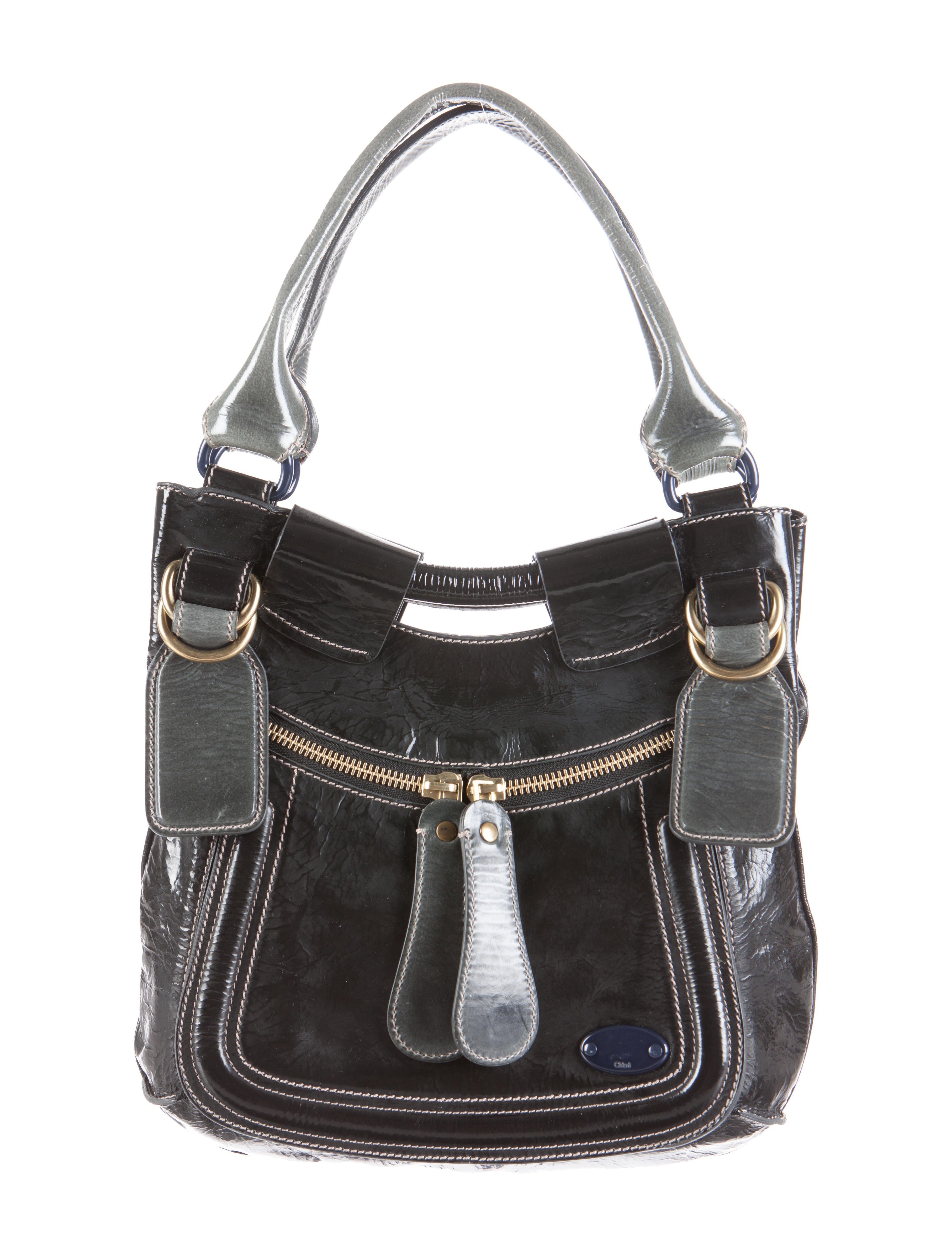 auth chloe handbags leather betty