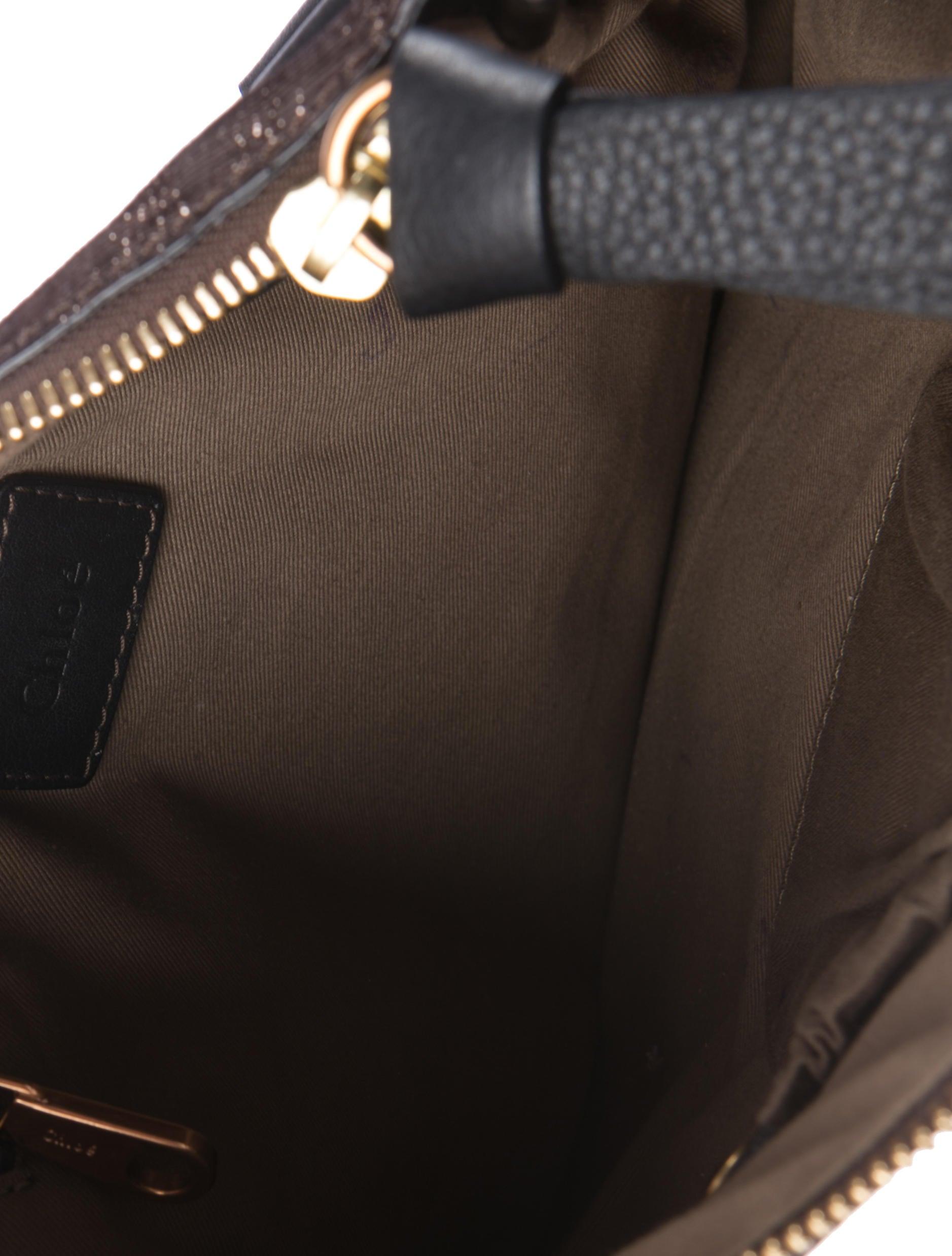 chloe metallic marcie handle bag