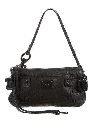 chloe embossed leather clutch w tags