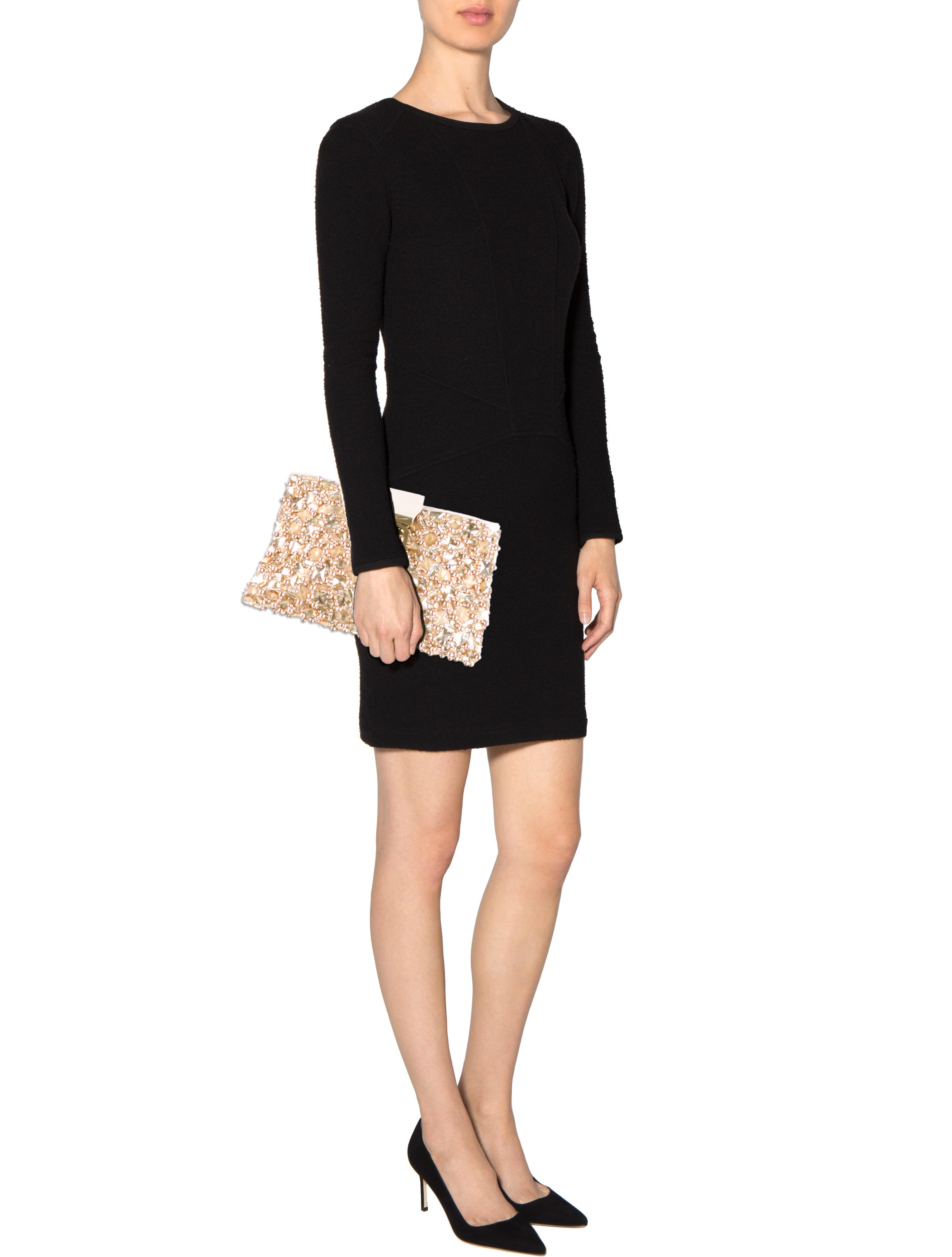 chloe pink handbag - chloe embellished elsie clutch, wholesale chloe bags