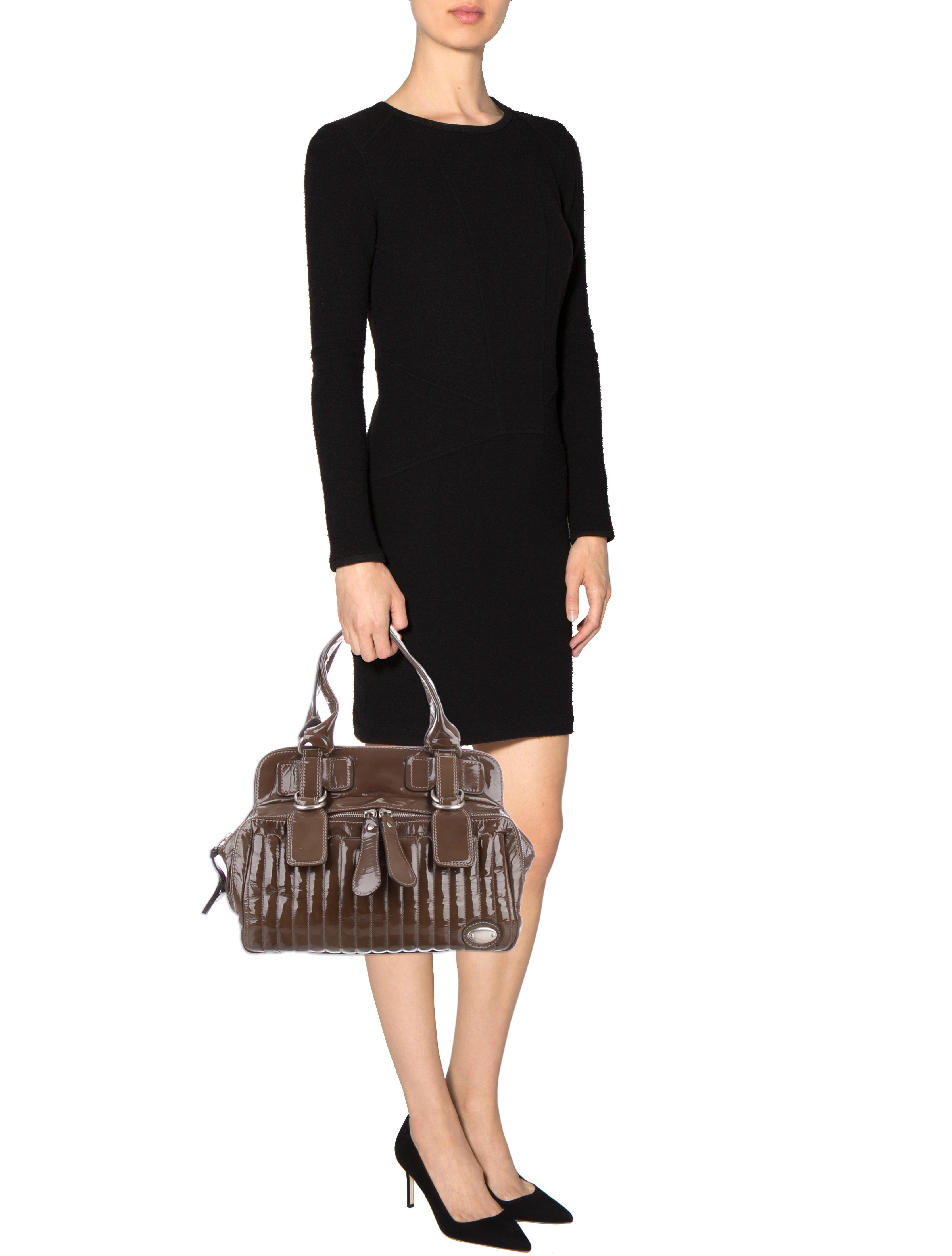 fake chloe bags - Chlo�� Patent Leather Bay Bag - Handbags - CHL37897 | The RealReal