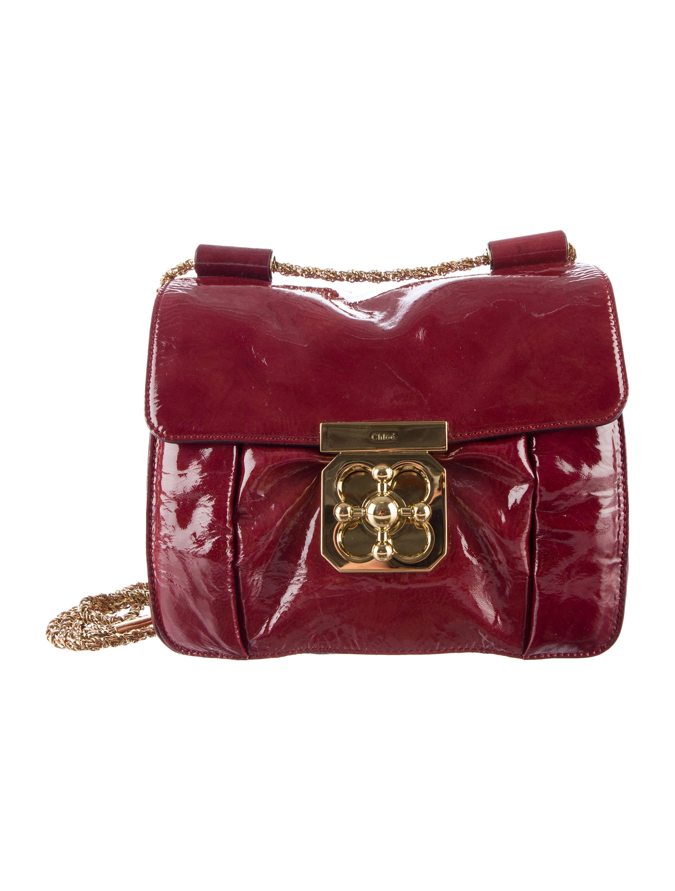 chloe patent leather elsie shoulder bag