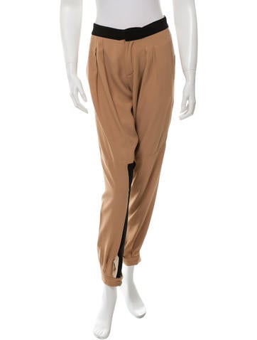 Chloé Pleated Straight-Leg Pants