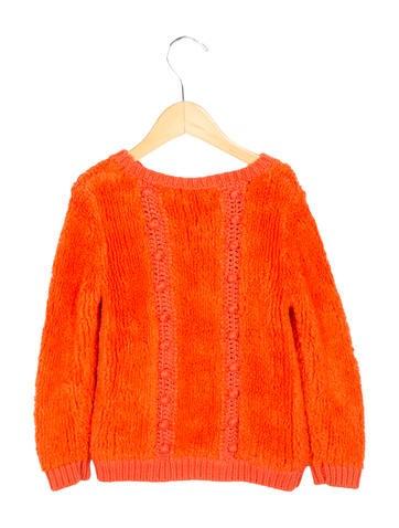 Chloé Girls' Textured Crew Neck Sweater None