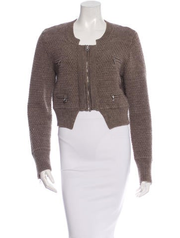 Chloé Wool Zip Cardigan None