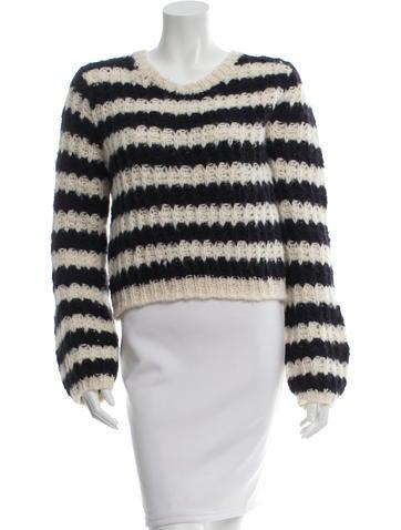Chloé Striped Crop Sweater None
