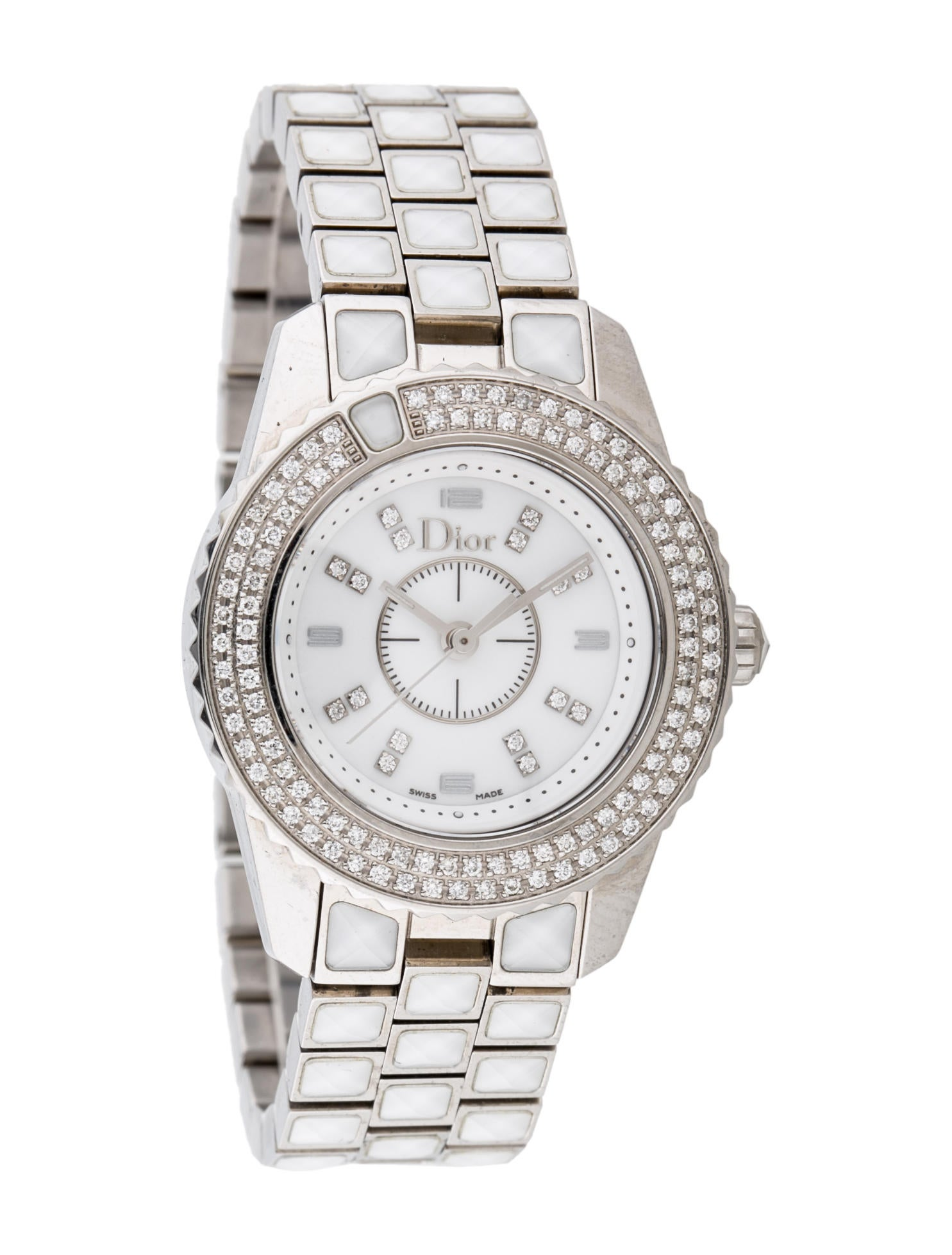 Christian dior christal diamond watch bracelet chr30979 the realreal for Christian dior watches