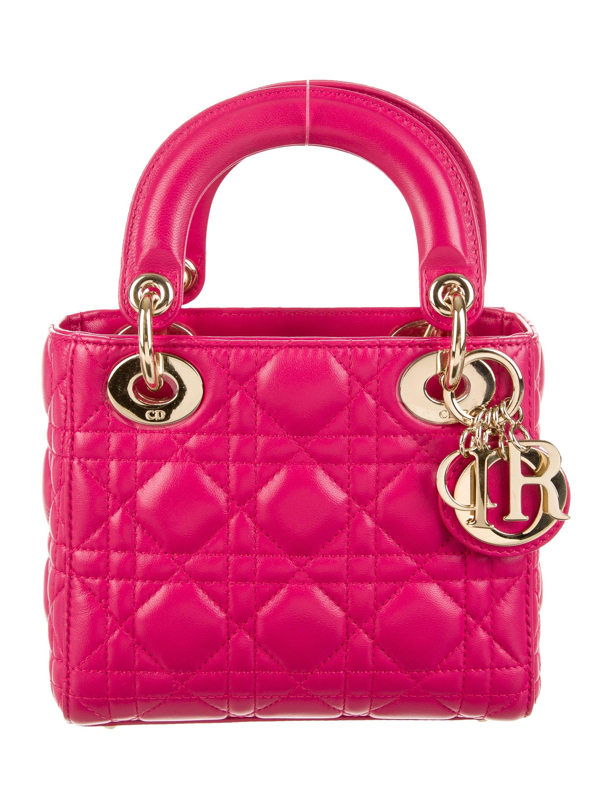 christian dior mini lady dior bag handbags chr33463 the realreal. Black Bedroom Furniture Sets. Home Design Ideas