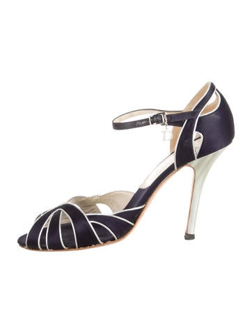 Christian Dior Satin Multistrap Sandals