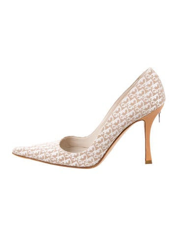 Christian Dior Diorissimo Pointed-Toe Pumps
