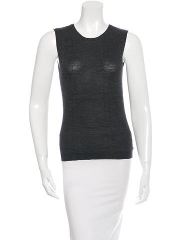 Christian Dior Sleeveless Wool Top None