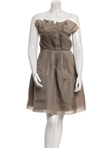 Christian Dior Silk Strapless Dress None