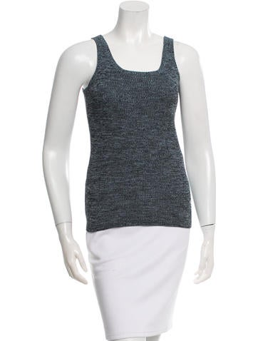 Christian Dior Sleeveless Scoop Neck Top None