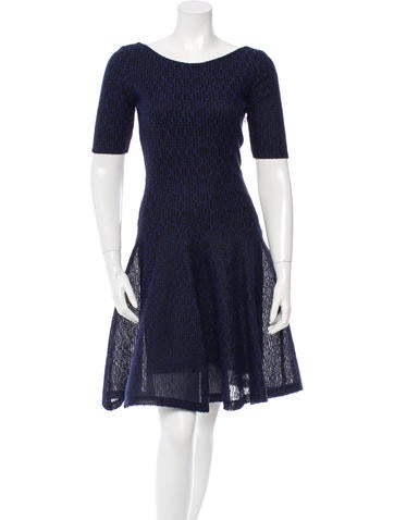 Christian Dior Patterned Open Knit Dress None