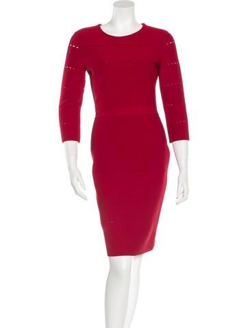 Christian Dior Long Sleeve Sheath Dress None
