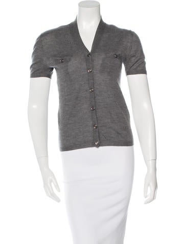 Christian Dior Cashmere Short Sleeve Cardigan None