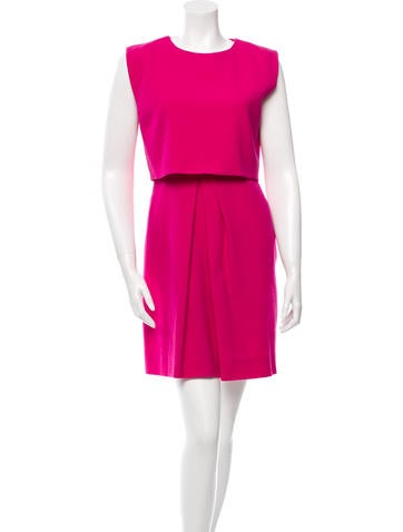 Christian Dior Overlay Pleated Dress None