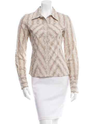 Christian Dior Eyelet Button-Up Top None