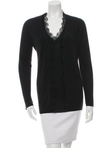 Christian Dior Cashmere & Silk-Blend Cardigan Set None