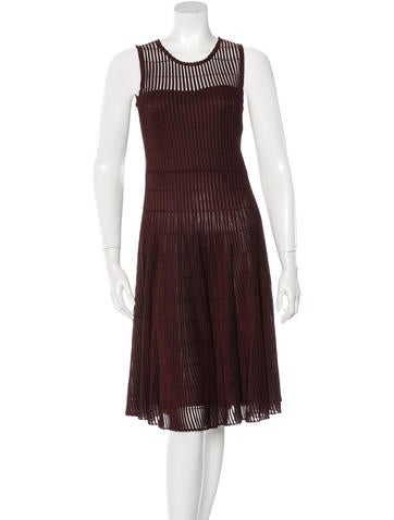 Christian Dior Ribbed Swing Dress None