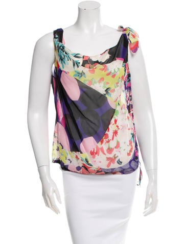 Christian Lacroix Printed Silk Top None