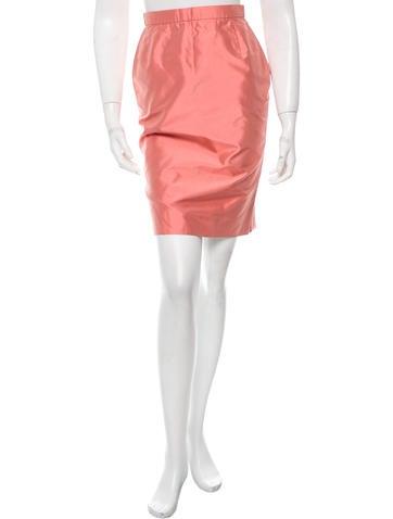 Christian Lacroix Silk Pencil Skirt None