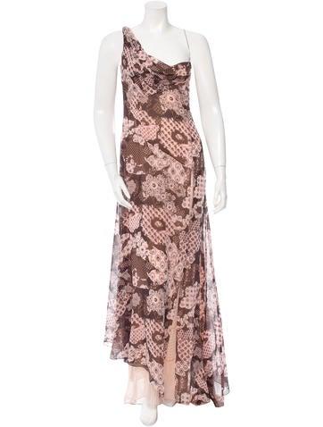 Christian Lacroix Silk One-Shoulder Dress None