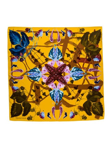 Christian Lacroix Silk Floral Scarf w/ Tags None