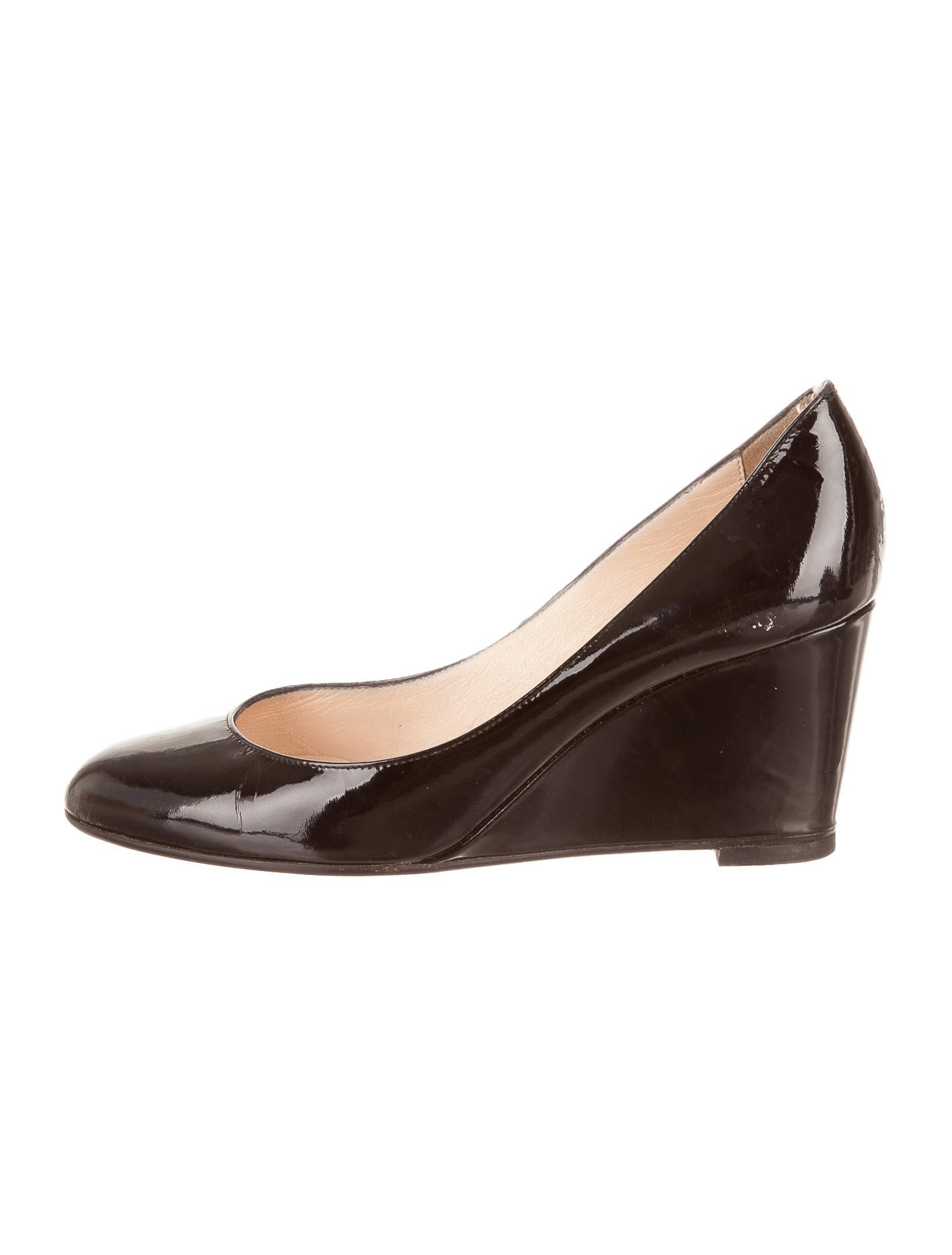 Artesur ? christian louboutin round-toe wedges Black patent ...
