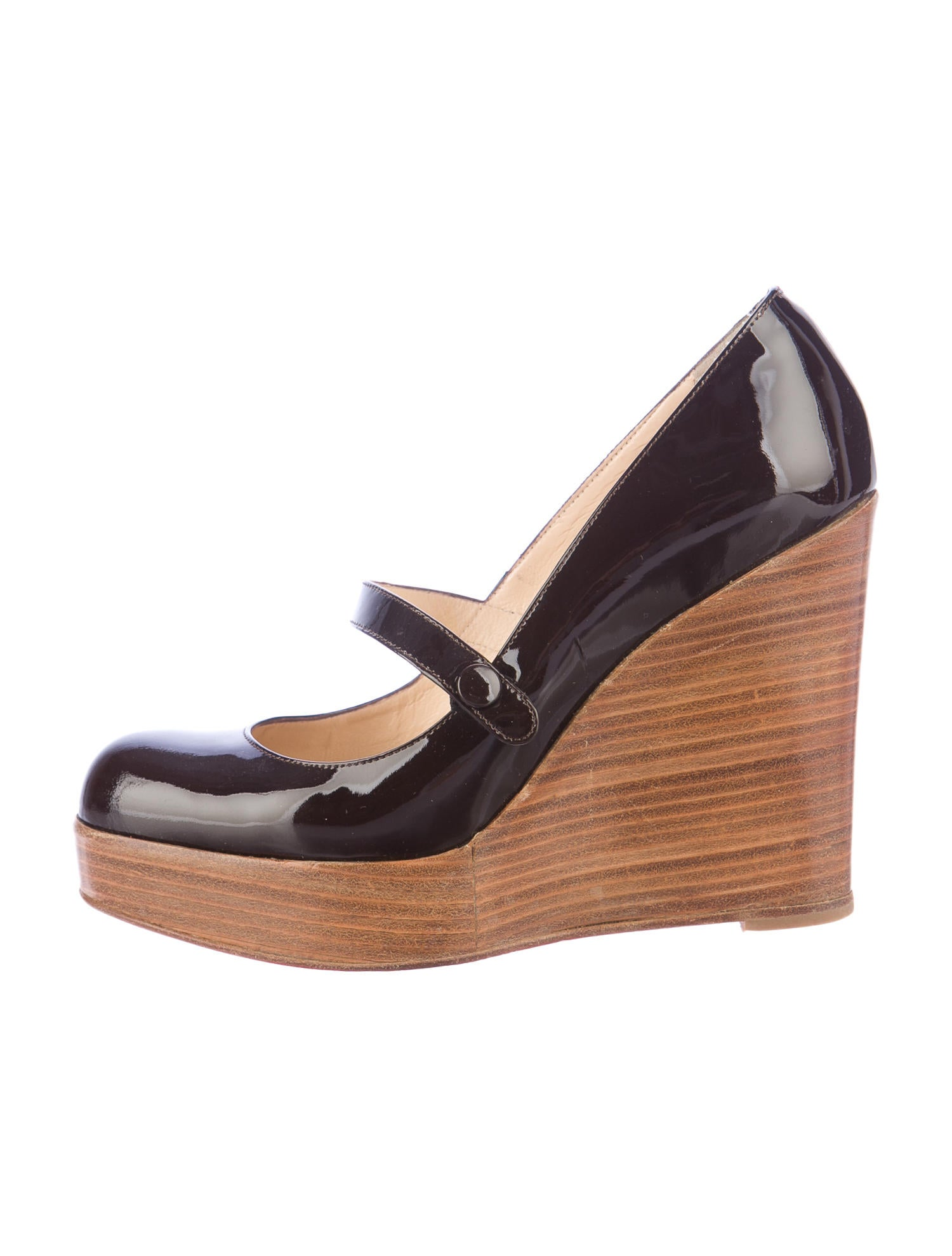 louboutin mary jane wedge