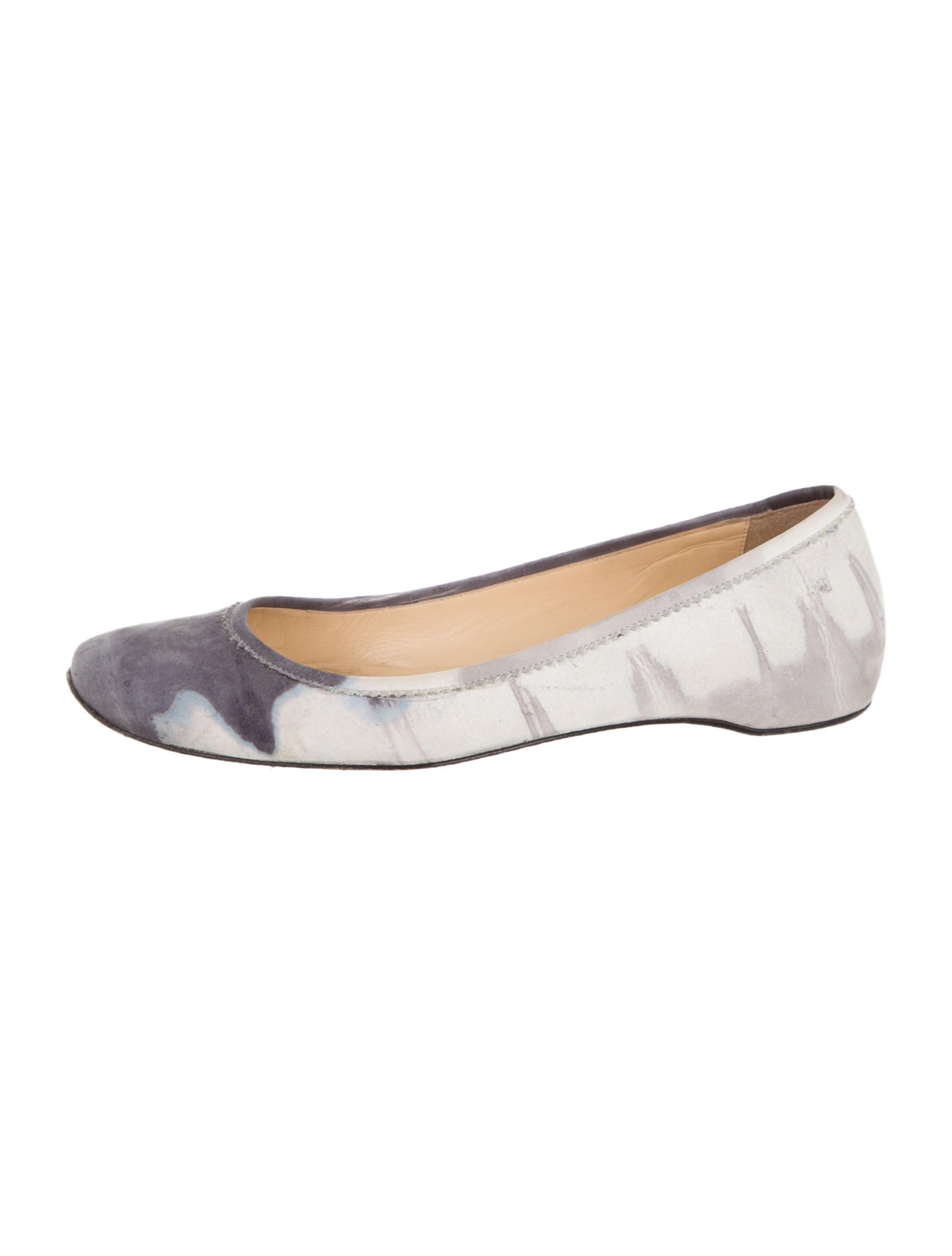 louboutins trainers - christian louboutin square-toe ballerina flats Light blue and grey ...
