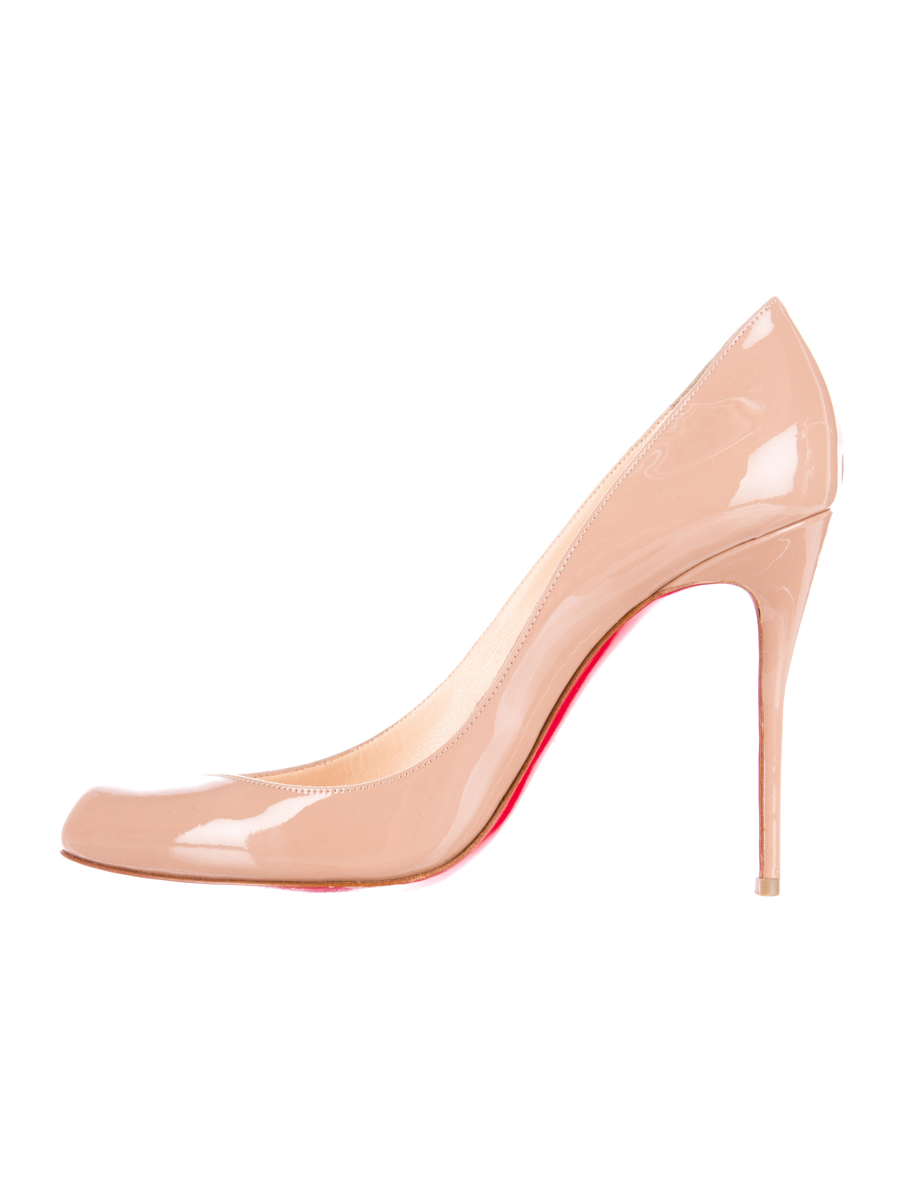 christian louboutin Corneille pumps Tan patent leather pointed ...