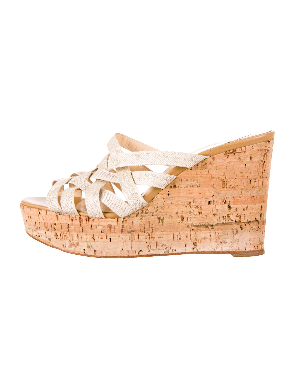 Artesur ? christian louboutin sandals Beige woven nylon straps