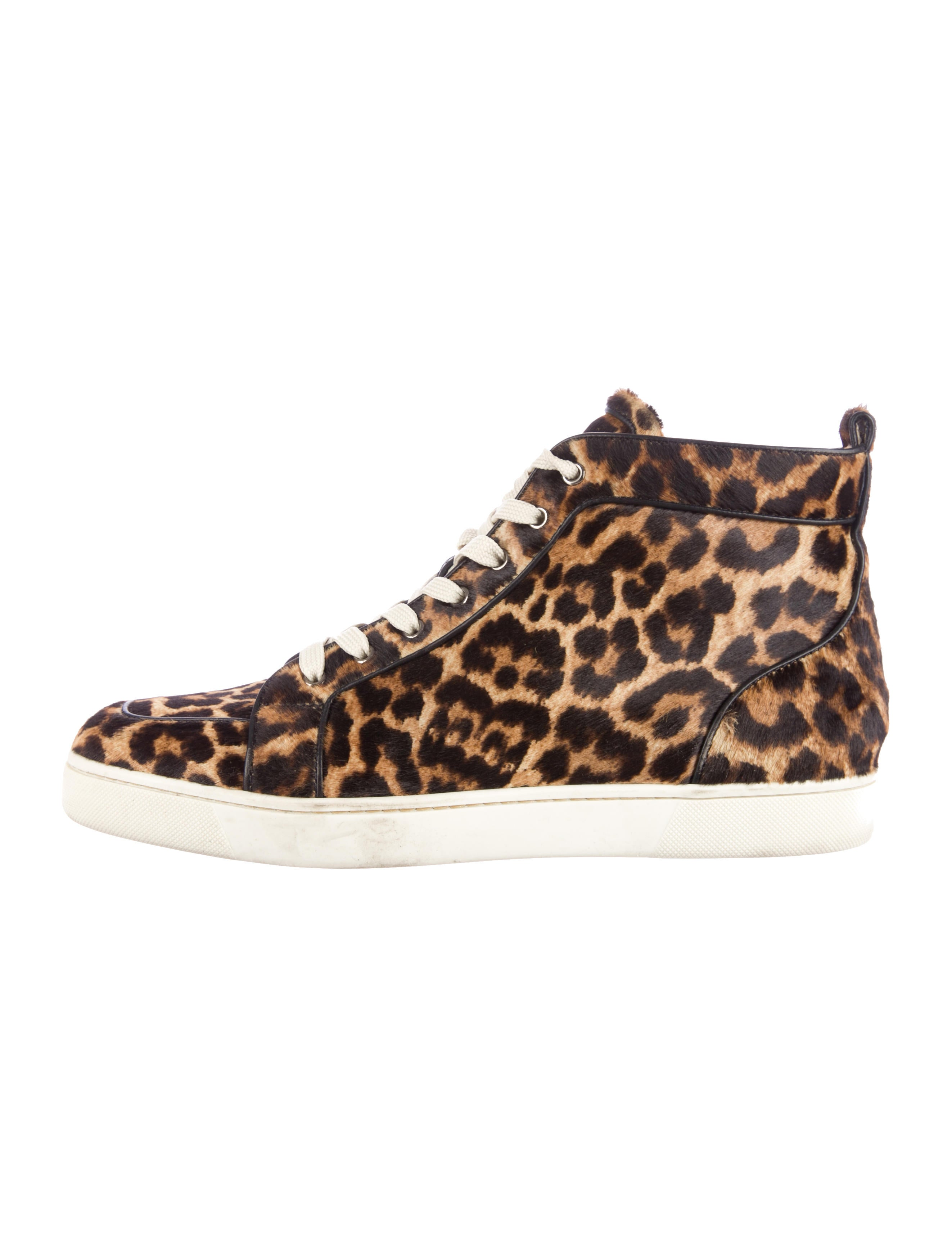 Christian Louboutin Ponyhair Orlato High-Top Sneakers - Mens Shoes ...